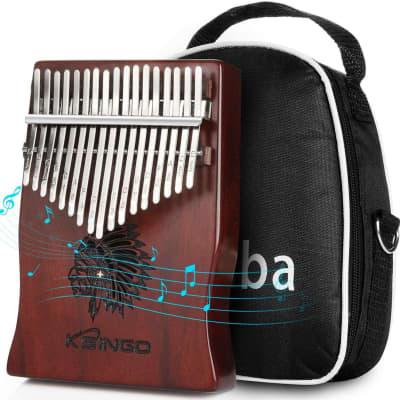 Kalimba 17 Keys Thumb Piano, Portable 17 Tone Mbira + Carrying Bag / Gig-Bag Case