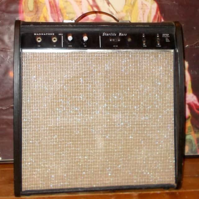 Magnatone Model 441 Starlite Bass Tube Amp 1965 Black  *35% Off Amp Sale* image