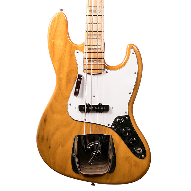 1975 fender jazz bass natural lucky fret music co reverb. Black Bedroom Furniture Sets. Home Design Ideas