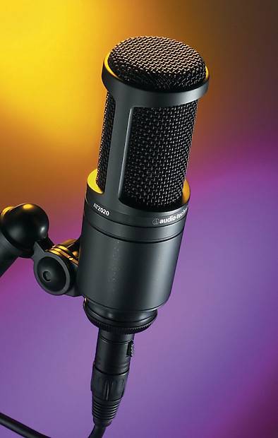audio technica at2020 cardioid condenser microphone reverb. Black Bedroom Furniture Sets. Home Design Ideas