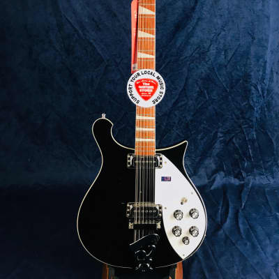 Rickenbacker Model 620 12-String Jetglow 2017 Model in Black Pre-Owned for sale