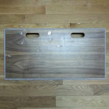 """Blackbird  30""""x15"""" Pedalboard with Fawn Sides and Wood Top"""