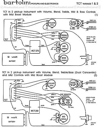 bartolini ntct 3 band tone control preamp w   400 hz mid