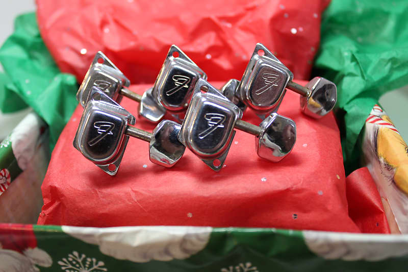 5 vintage 70s fender f stamped guitar tuners chrome reverb. Black Bedroom Furniture Sets. Home Design Ideas