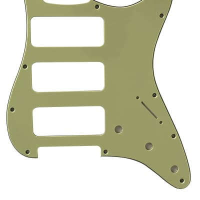 For Fender 3-Ply Stratocaster Strat P90 3 Pickup Guitar Pickguard Scratch Plate, Vintage Green