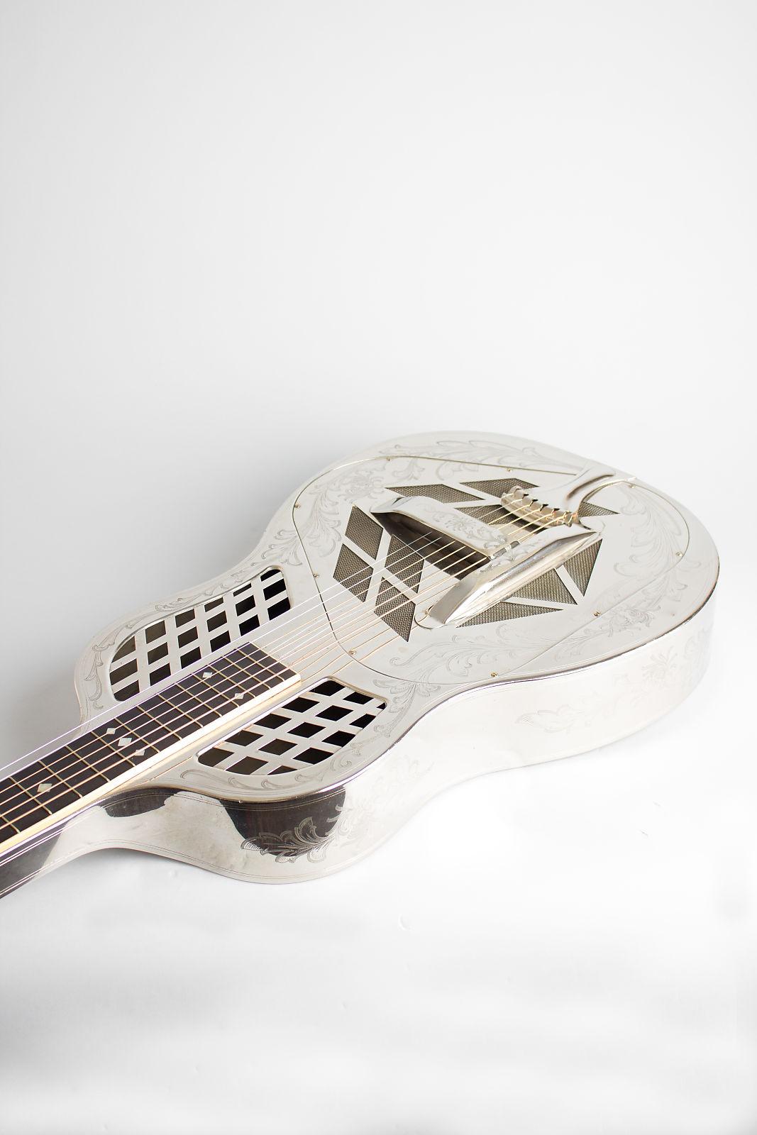 National  Style 4 Tricone Squareneck Resophonic Guitar (1929), ser. #1648, original black hard shell case.