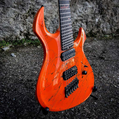 GNG  Morgoth 7 fan fret 2020 NAMN Orange splotch for sale