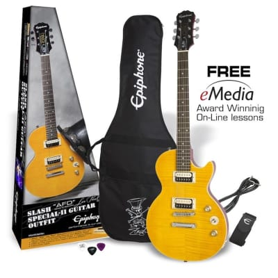 Epiphone Slash 'AFD Les Paul Special-II Guitar Outfit (Appetite Amber) for sale