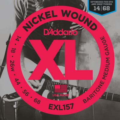 D'Addario Baritone Electric Guitar Strings Set, Nickel Wound Medium Gauge, 14-68