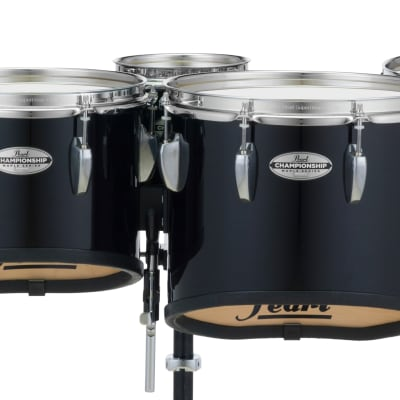 Pearl 6+10+12+13+14 Championship Marching Tom Set - Midnight Black
