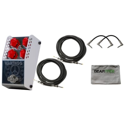 ThorpyFX Warthog Distortion V2 Pedal w/ Polish Cloth and 4 Cables