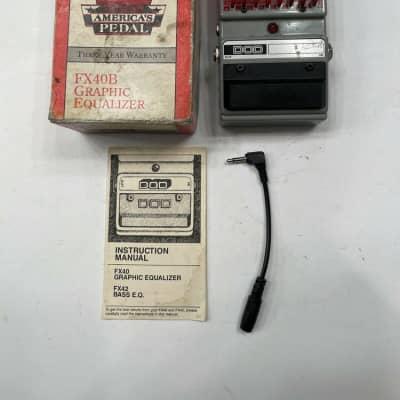 DOD Digitech FX40B Graphic Equalizer EQ Rare Vintage Guitar Effect Pedal + Box for sale