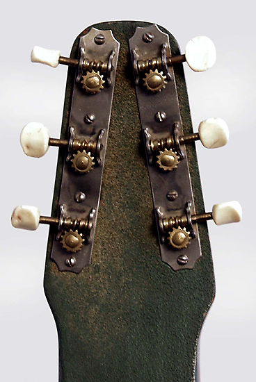 Dickerson Lap Steel Electric Guitar, made by Magnatone,  c. 1946, alligator grained tolex original chipboard case.