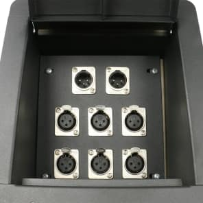 Elite Core Audio FB8-6XF2XM Recessed Floor Box with 6x XLR Female, 2x XLR Male Connectors