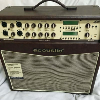 Acoustic A1000 - 100W Acoustic Amp _2 Channels_4 Inputs for sale