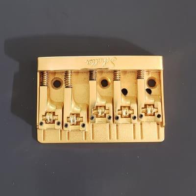 Schaller 4 String Bass Bridge Gold NOS