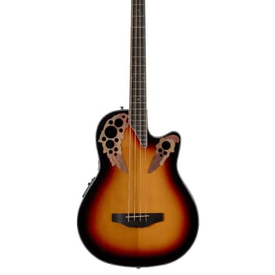 Ovation Celebrity Mid-Depth 4 String Bass Guitar - New England Burst - CEB44-1N for sale