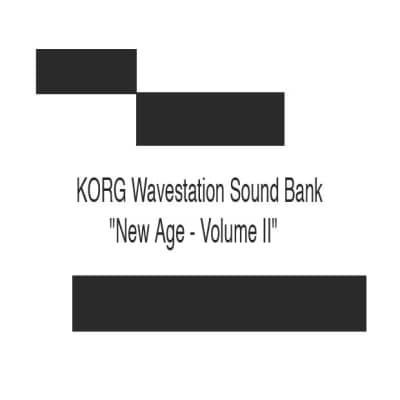 "KORG Wavestation Sound Bank  - ""New Age - Volume II"""