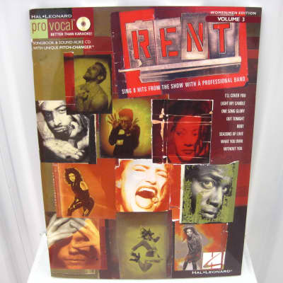 Rent Pro Vocal CD Volume 3 Sheet Music Song Book Songbook