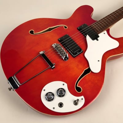 1967 Mosrite Celebrity III in Flamey Trans Cherry with HSC - American-Made for sale