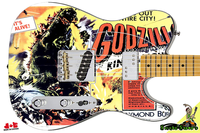 212 Righty Electric Guitar Skin Godzilla King of Monsters