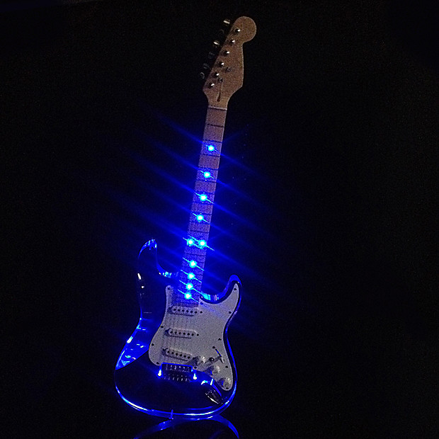 LMS Clear Acrylic See Thru Body Vintage Style Electric Guitar