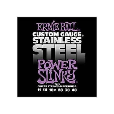 Ernie Ball 2245 Power Slinky Stainless Steel Electric Guitar Strings (11-48)