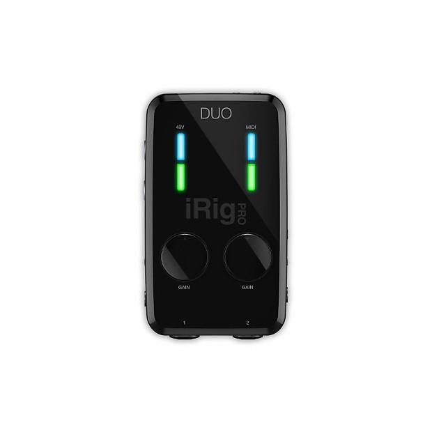 NEW IK Multimedia Irig Pro Duo 2 Channel Audio Midi Interface iOS Android PC MAC