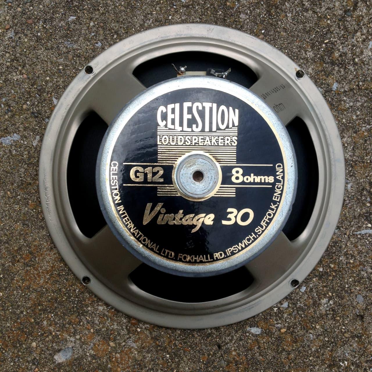 celestion vintage 30 g12 8 ohm 60 watt guitar speaker reverb. Black Bedroom Furniture Sets. Home Design Ideas