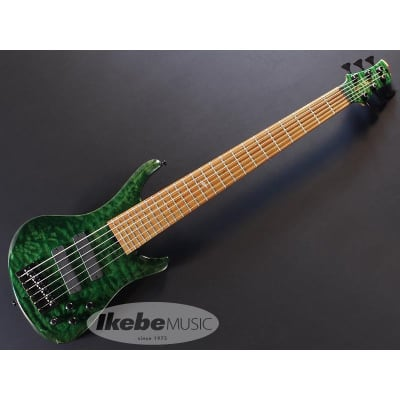 ROSCOE LG3006/35 Exhibition grade Quilted maple top, Emerald Green for sale