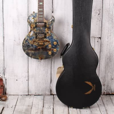 Dean 2018 USA Thoroughbred Buckeye Burl Electric Guitar Blue Marble with Case