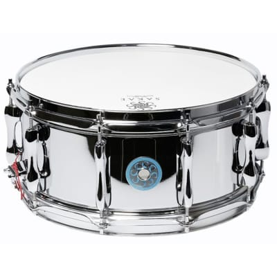 "Sakae SDM1465AL 14x6.5"" Polished Aluminum Snare Drum"