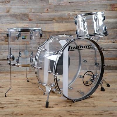 """Ludwig Vistalite Reissue 10x14 / 16x16 / 14x26"""" Drum Set"""