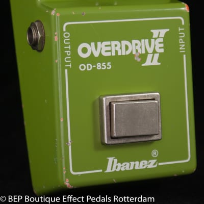 """Ibanez OD-855 Overdrive II 1981 s/n 183460 Japan with JRC4558D op amp, """"R"""" Logo"""