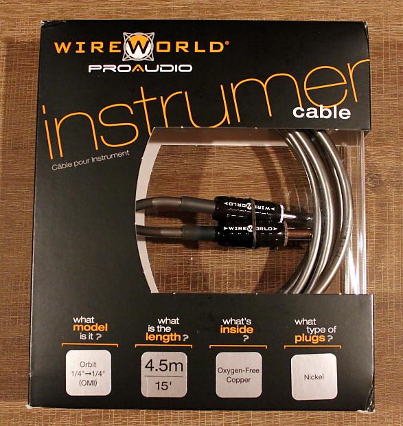 Wireworld Proaudio Instrument Cable - ORBIT 4.5m/15ft | Reverb