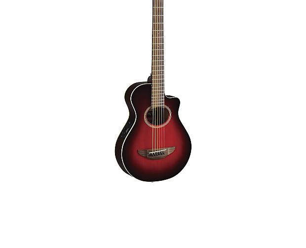 Yamaha Apx Thinline A E Cutaway Guitar Dark Red Burst