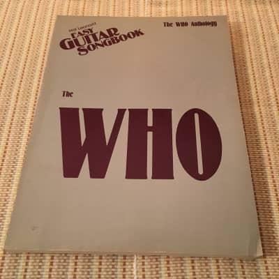 Hal Leonard 1983 THE WHO ANTHOLOGY Music Book