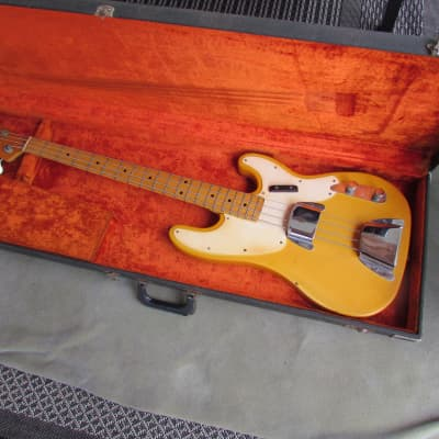 1971 Fender Telecaster Bass Original Blonde Finish Maple Neck OHC Vibey Vintage Telecaster Bass for sale