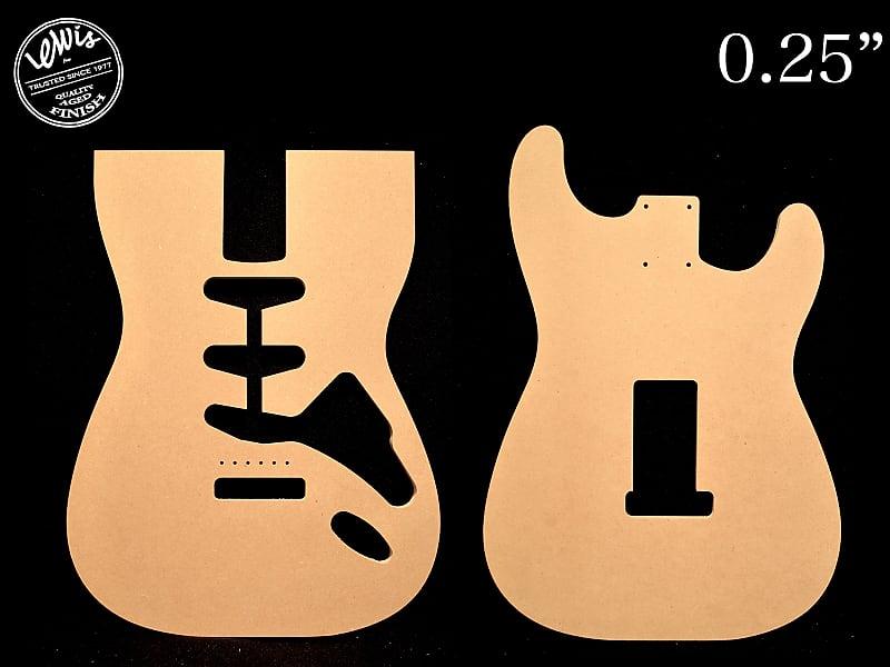 Stratocaster Mdf Guitar Template 0 25 Thick Cnc Cut Reverb
