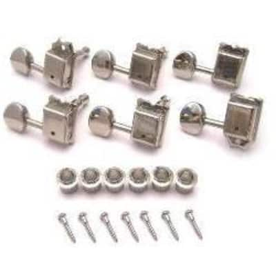 Gotoh Kluson Style 6 In-line Vintage Tuners-Nickel for sale