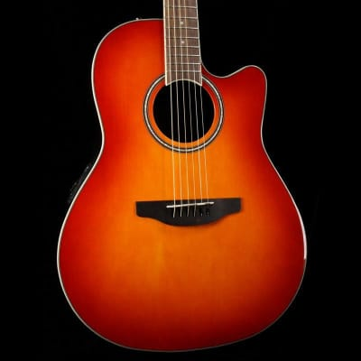 Ovation AB24II-HB Applause Balladeer Mid Depth Mahogany Neck 6-String Acoustic-Electric Guitar for sale