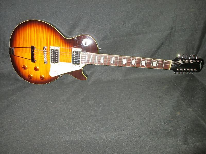 300dc19a0a Epiphone Les Paul 12 String Rare W/Hard Shell Vintage Burst | Reverb