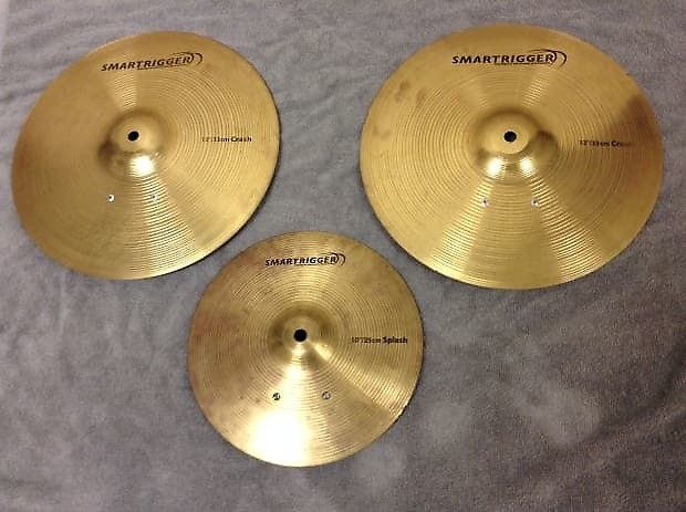 set of 3 smartrigger metal electronic cymbals two 13 reverb. Black Bedroom Furniture Sets. Home Design Ideas