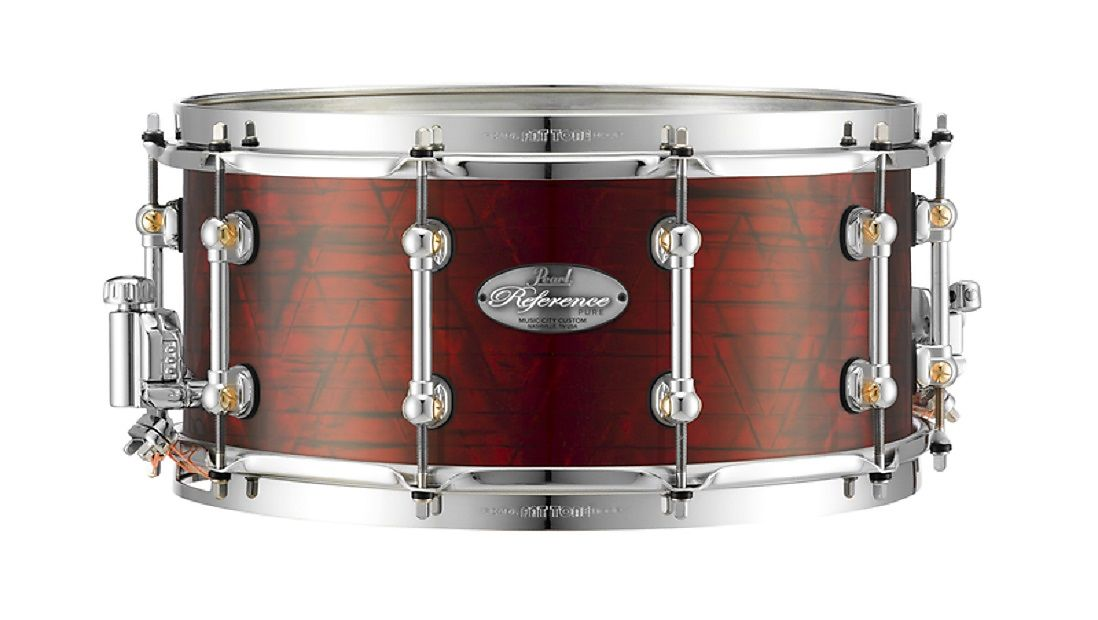 pearl music city custom reference pure 13 x6 5 snare drum 403 red onyx free us shipping. Black Bedroom Furniture Sets. Home Design Ideas