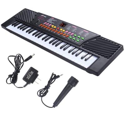 Black Perfect 54 Keys Kids Electronic Music Piano