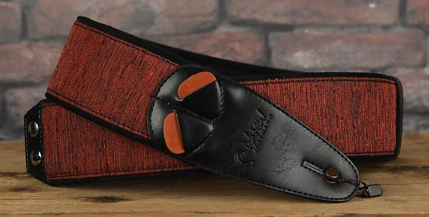 right on straps mojo boxeo red handmade vegan guitar strap reverb. Black Bedroom Furniture Sets. Home Design Ideas