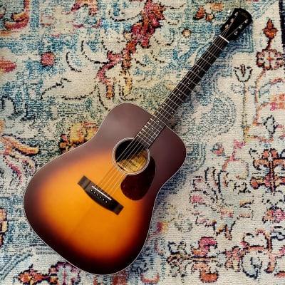 Aria 111 Acoustic Dreadnaught Guitar - Matte Tobacco Sunburst for sale