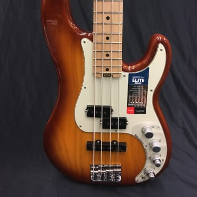 Fender American Elite Precision Bass - Tobacco Sunburst for sale