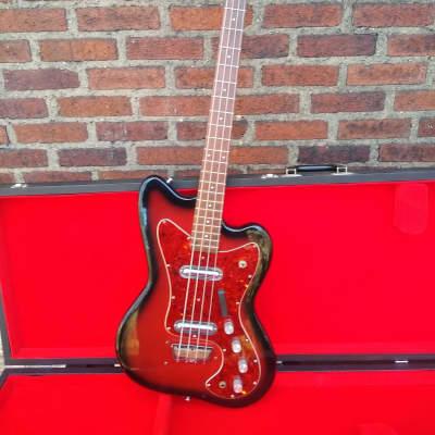 Silvertone 1443 Hornet Bass 1960s Red Burst for sale