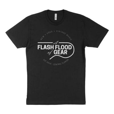 A Flash Flood of Gear Slim Fit T-Shirt Black Guitar Shop Shirt - Extra Large XL